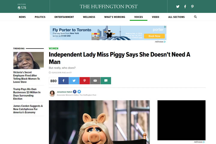 Independent Lady Miss Piggy Says She Doesn't Need A Man