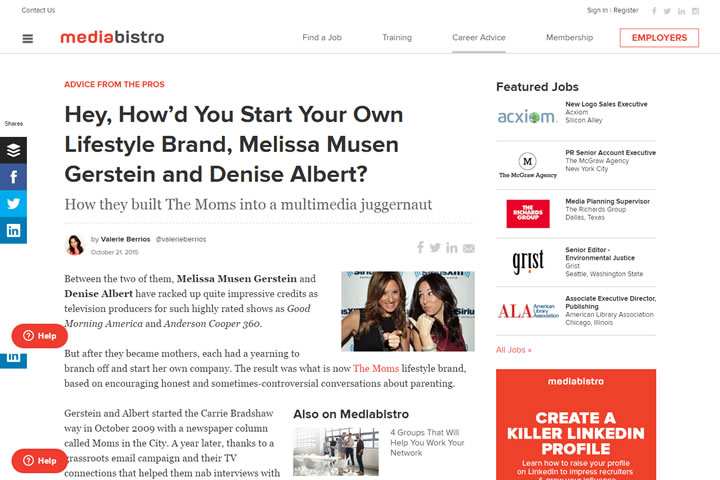 Hey, How'd You Start Your Own Lifestyle Brand, Melissa Musen Gerstein and Denise Albert?