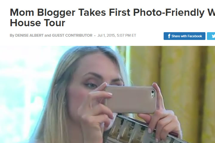 Mom Blogger Takes First Photo-Friendly White House Tour