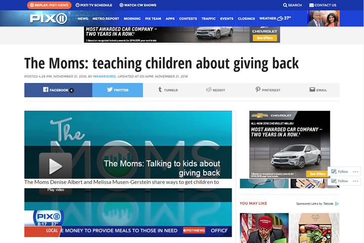 The Moms: Teaching Children About Giving Back