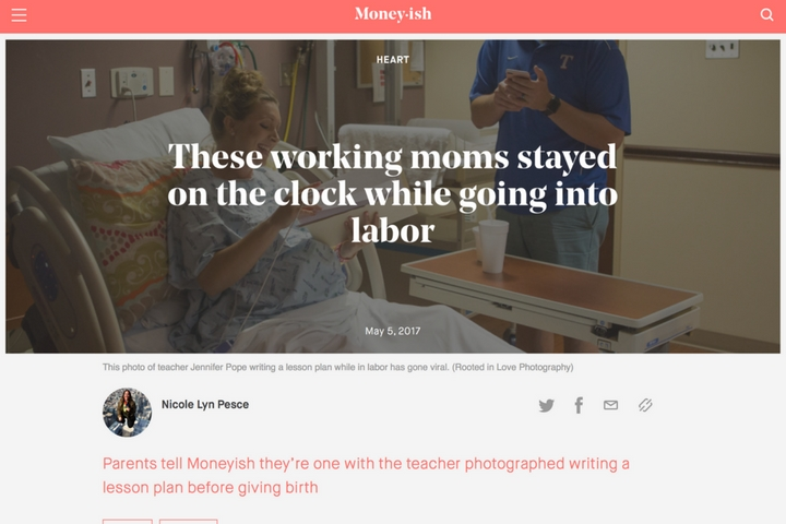 These working moms stayed on the clock while going into labor