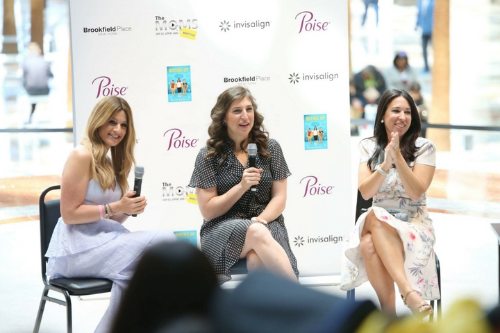 A Minute With The MOMS & Mayim Bialik