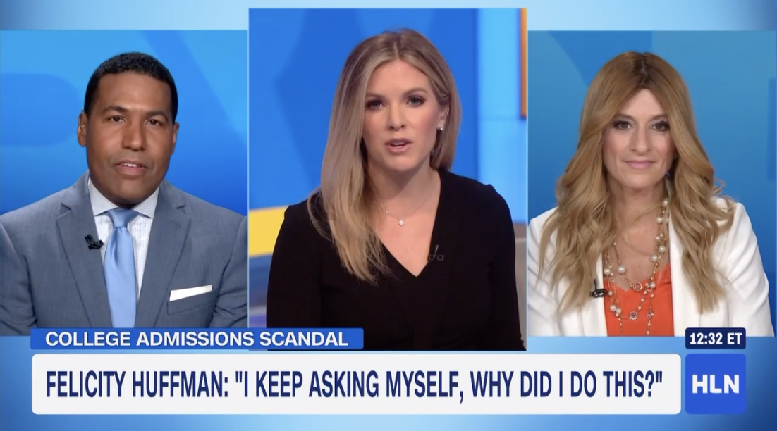 The MOMS on HLN talking about the upcoming sentencing for Felicity Huffman.