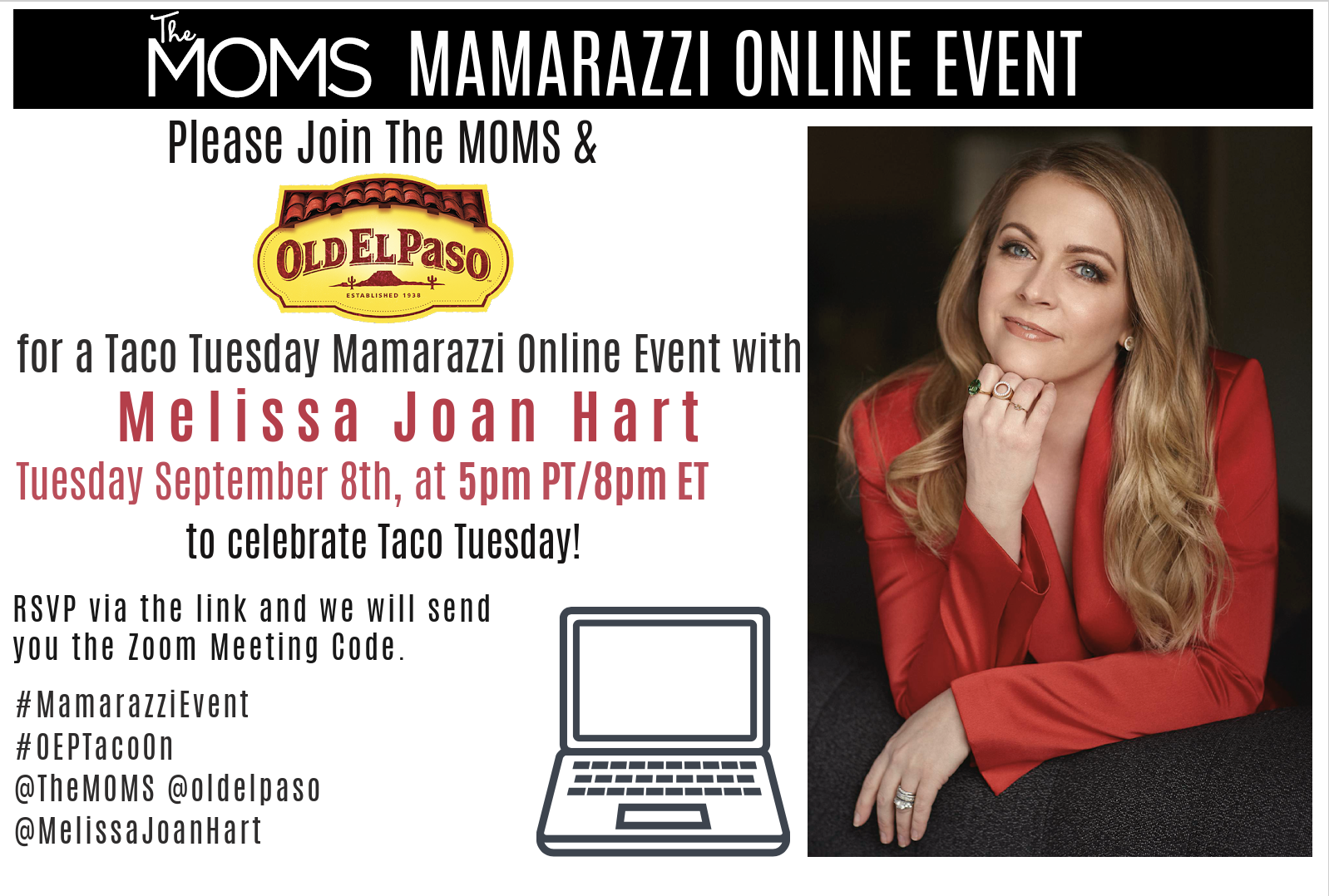 Mamarazzi Virtual Event with Melissa Joan Hart and Old El Paso