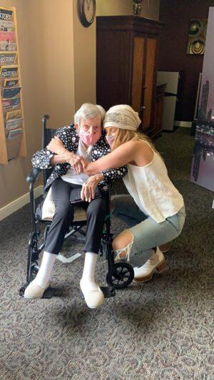 Hugs with 98 Year Old Grandma